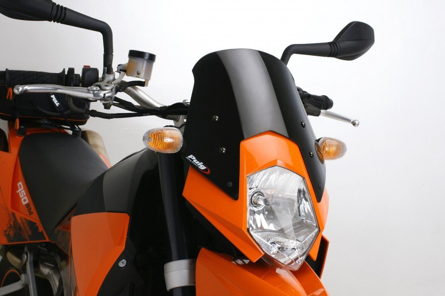 "Puig 5053 Windscreens ""Naked New Generation"" KTM 950 Supermoto/R (05-08) Čirá (W)"