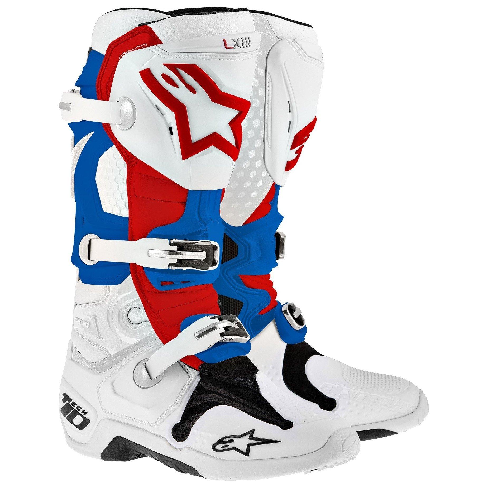 Alpinestars TECH 10 White/Red/Blue 12 (47)