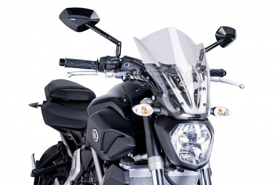 "Puig 7016 Windscreen Naked ""New Generation Touring"" Yamaha MT-07 (14-15) Čirá (W)"