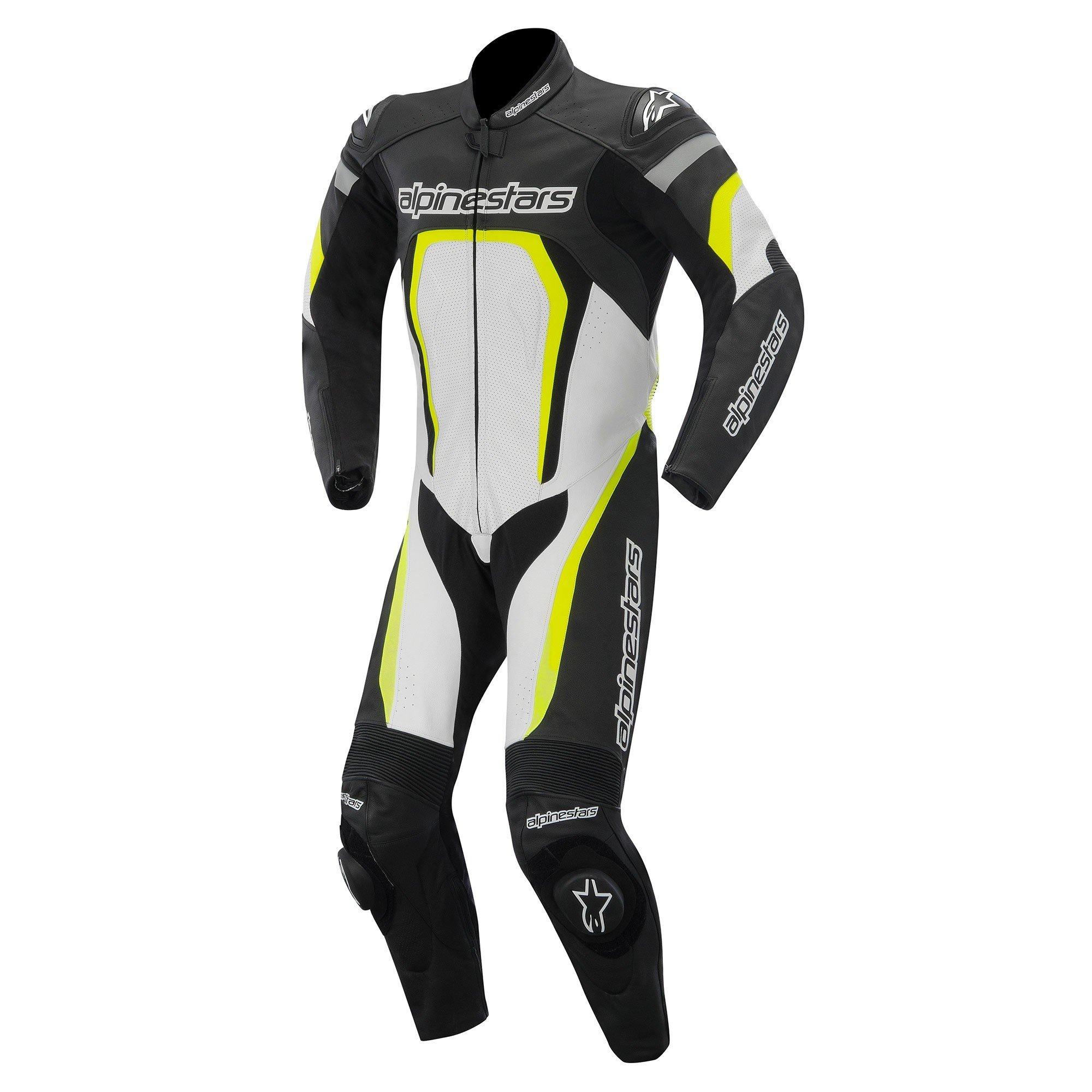 Alpinestars Motegi 1PC Suit Black/White/Yellow Fluo 48