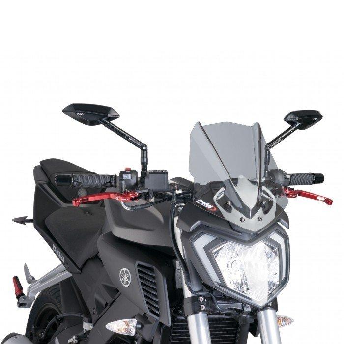 "Puig 7654 Windscreen ""Naked New Generation"" Yamaha MT-125 (15) Čirá (W)"