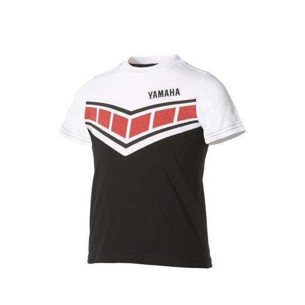 Yamaha Dětské triko Classic černo/bílé 3-4 roky