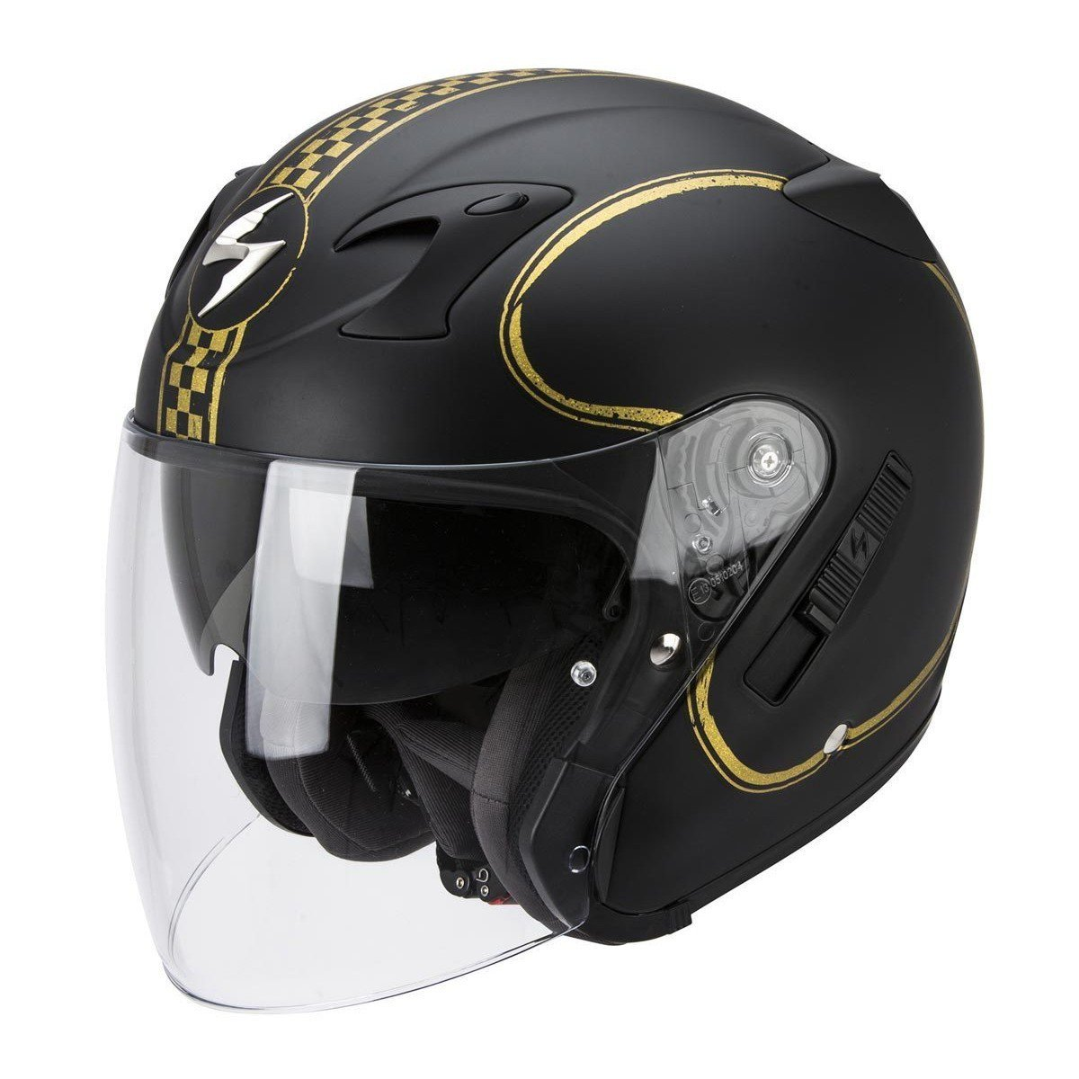 Scorpion EXO 220 Bixby Matt černá/zlatá L (59/60)