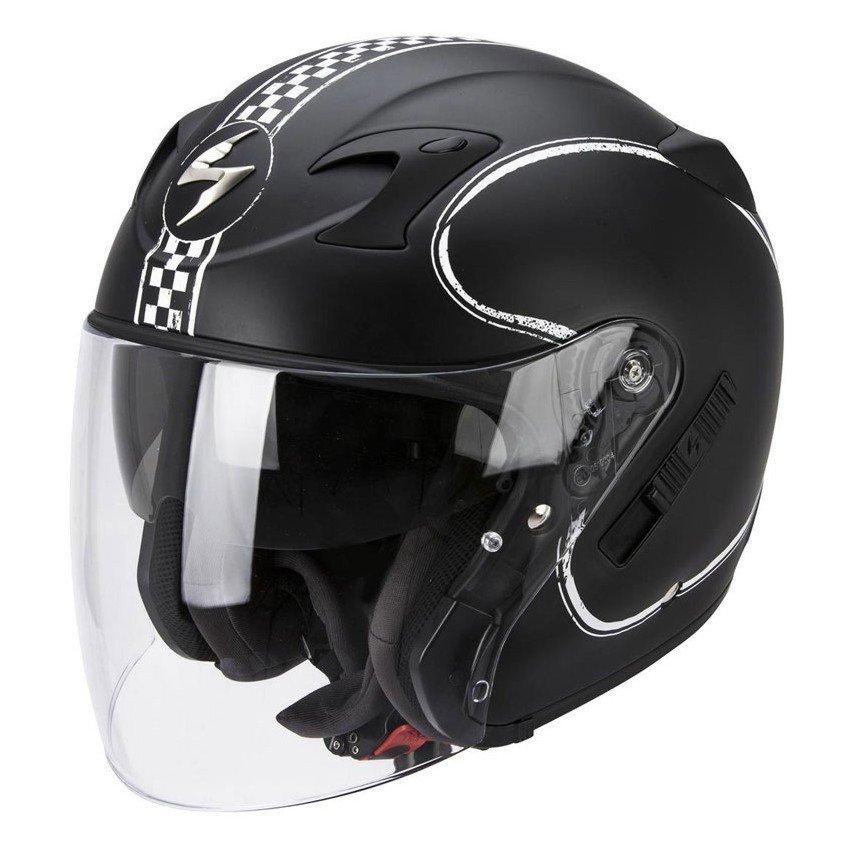 Scorpion EXO 220 Bixby Matt černá/bílá L (59/60)