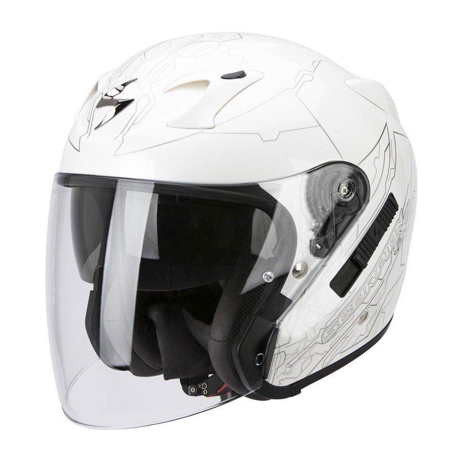 Scorpion EXO 220 Ion Pearl White/Silver L (59/60)