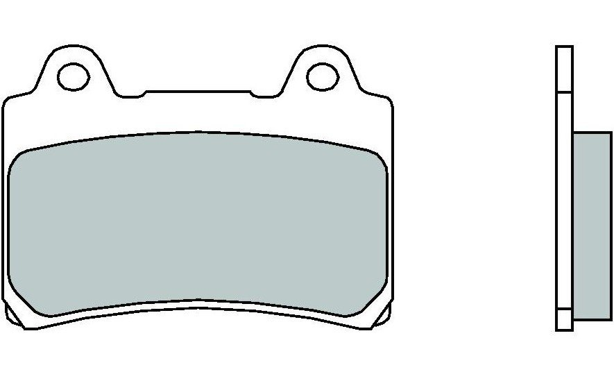 Motocyklové brzdové destičky BREMBO 07YA17 11 OE karbon keramické