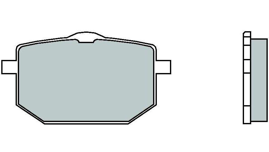 Motocyklové brzdové destičky BREMBO 07YA18 TT karbon keramické