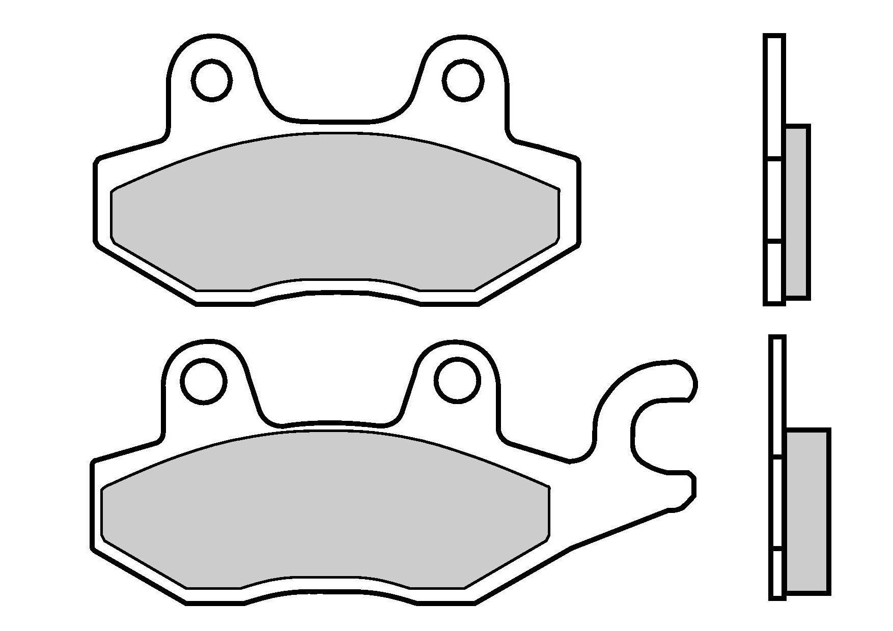 Motocyklové brzdové destičky BREMBO 07YA20 TT karbon keramické