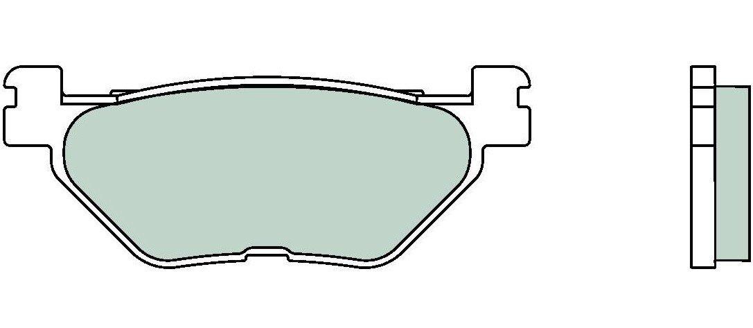 Motocyklové brzdové destičky BREMBO 07YA39 SP sinterové