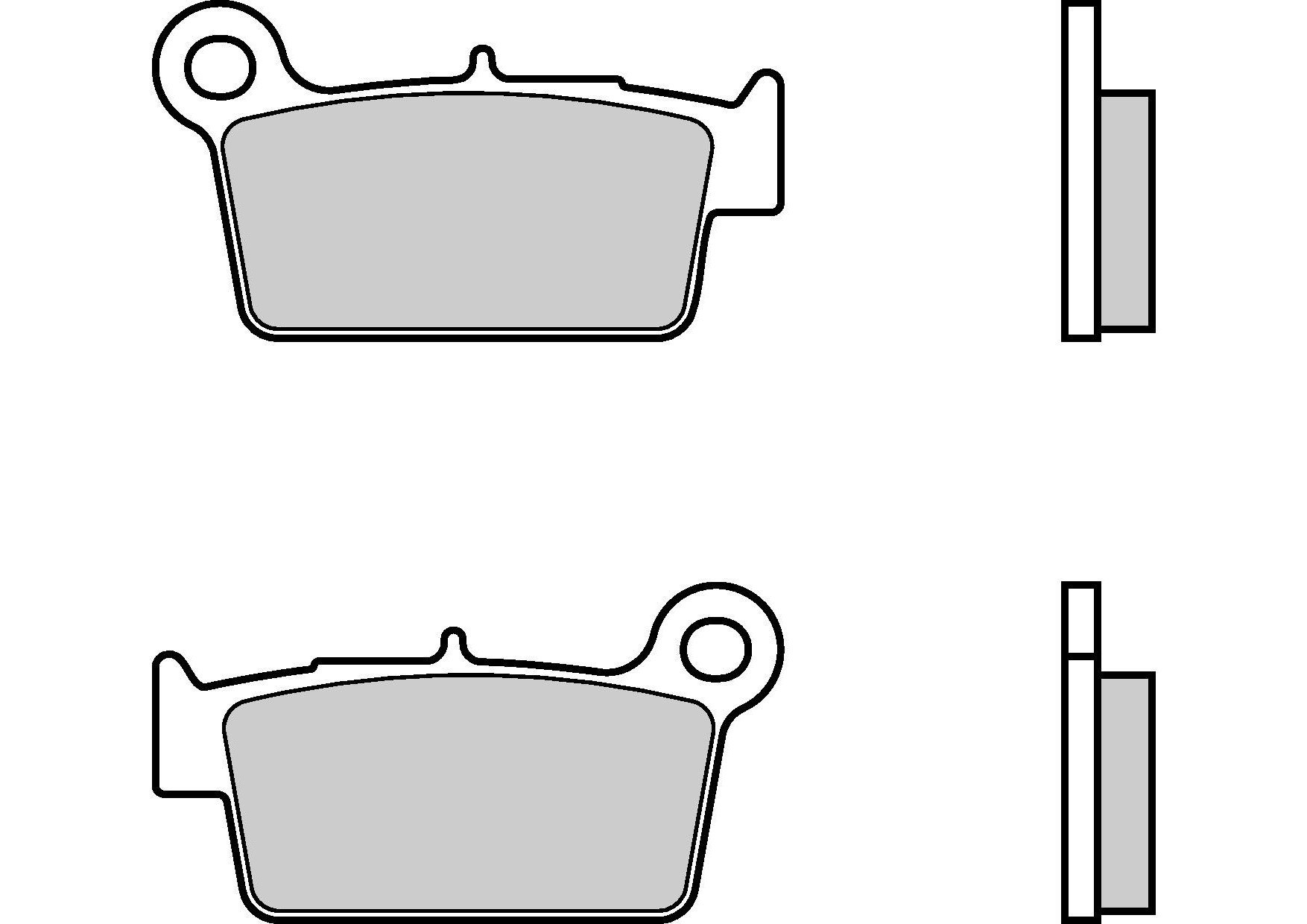 Motocyklové brzdové destičky BREMBO 07YA41 SD sinterové