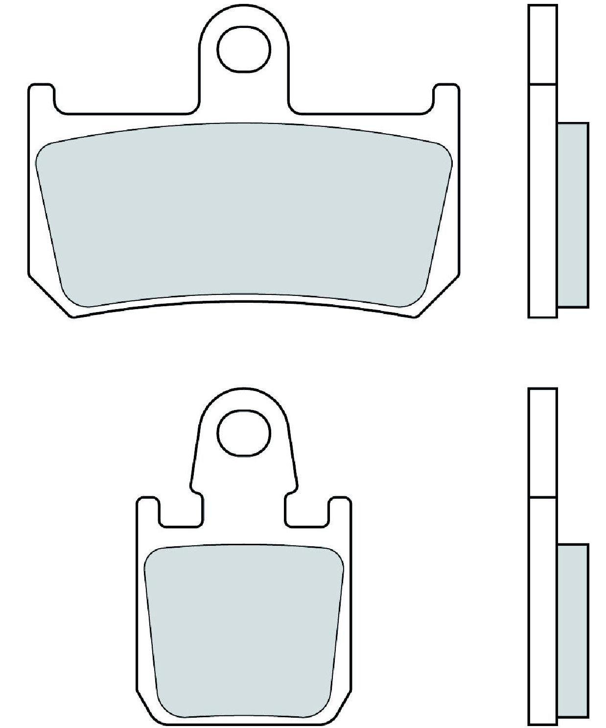 Motocyklové brzdové destičky BREMBO 07YA46 SC sinterové