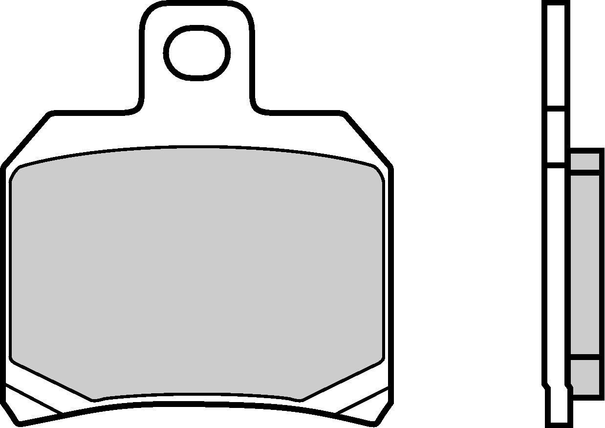 Motocyklové brzdové destičky BREMBO 07004 OE organické (přední+zadní)