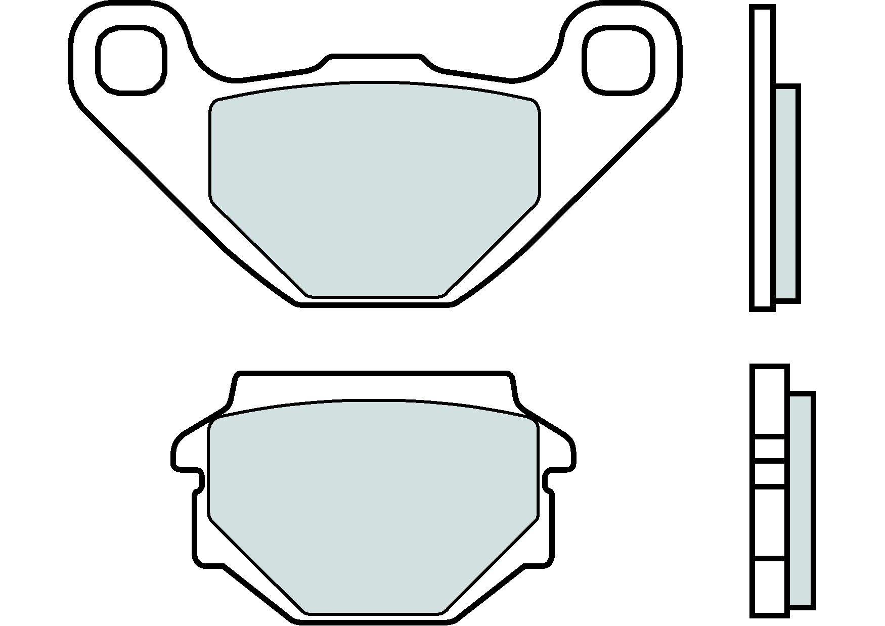 Motocyklové brzdové destičky BREMBO 07015 OE organické (přední+zadní)