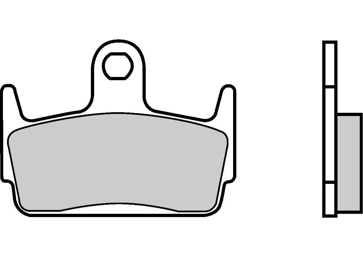 Motocyklové brzdové destičky BREMBO 07016 OE organické (přední+zadní)