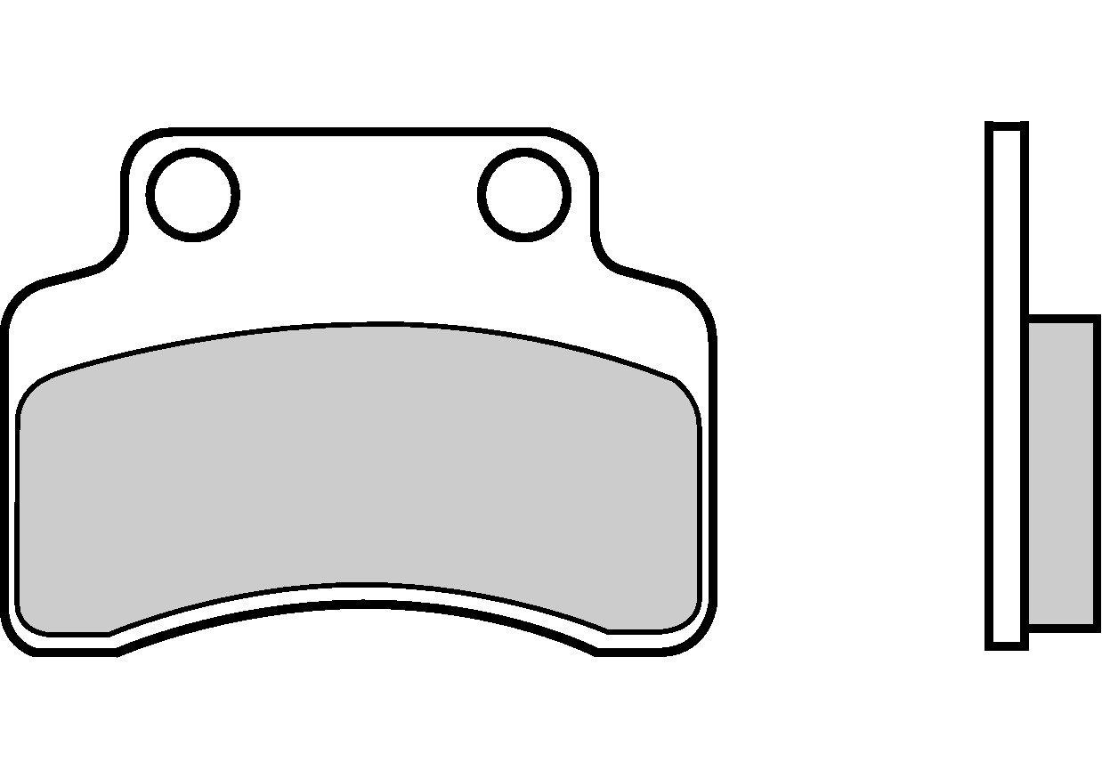Motocyklové brzdové destičky BREMBO 07018 OE organické (přední+zadní)