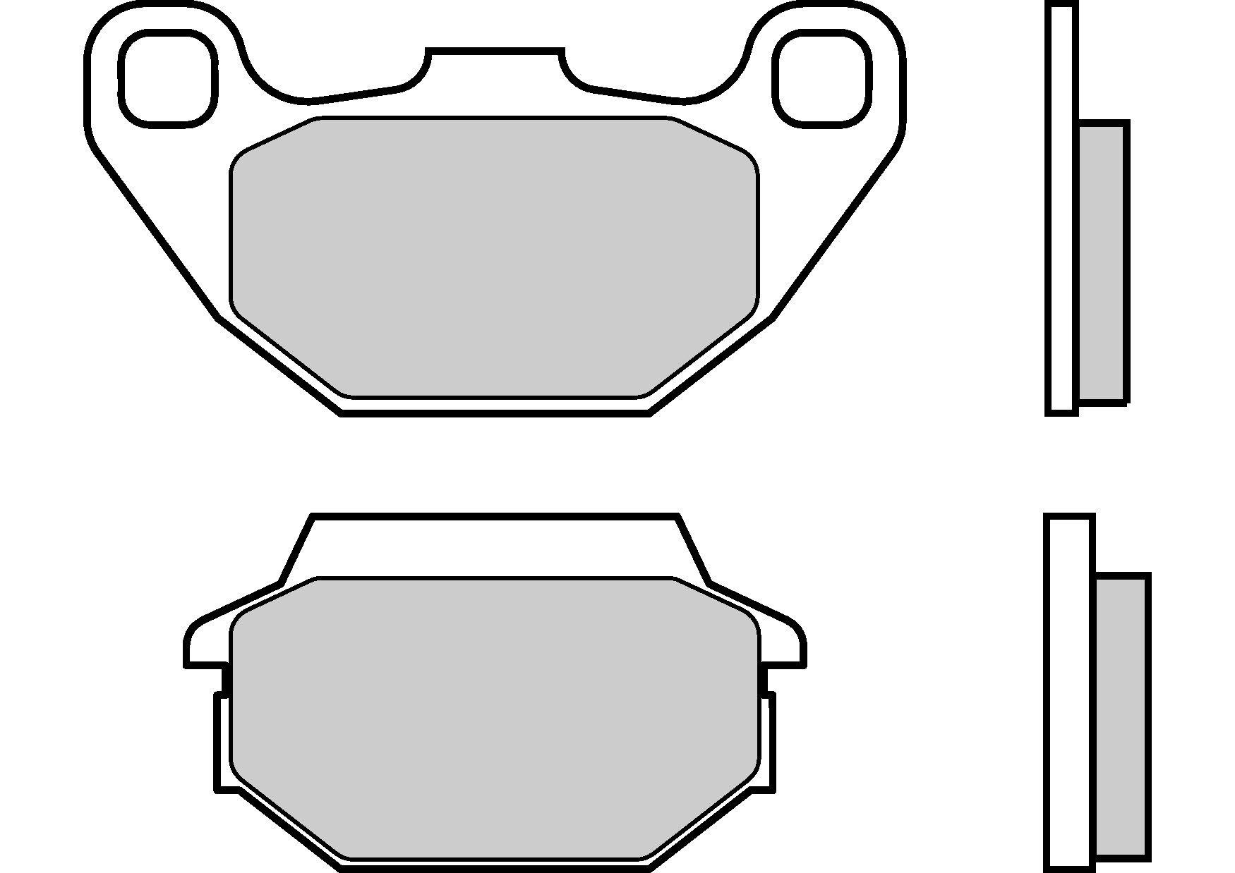 Motocyklové brzdové destičky BREMBO 07022 OE organické (přední+zadní)