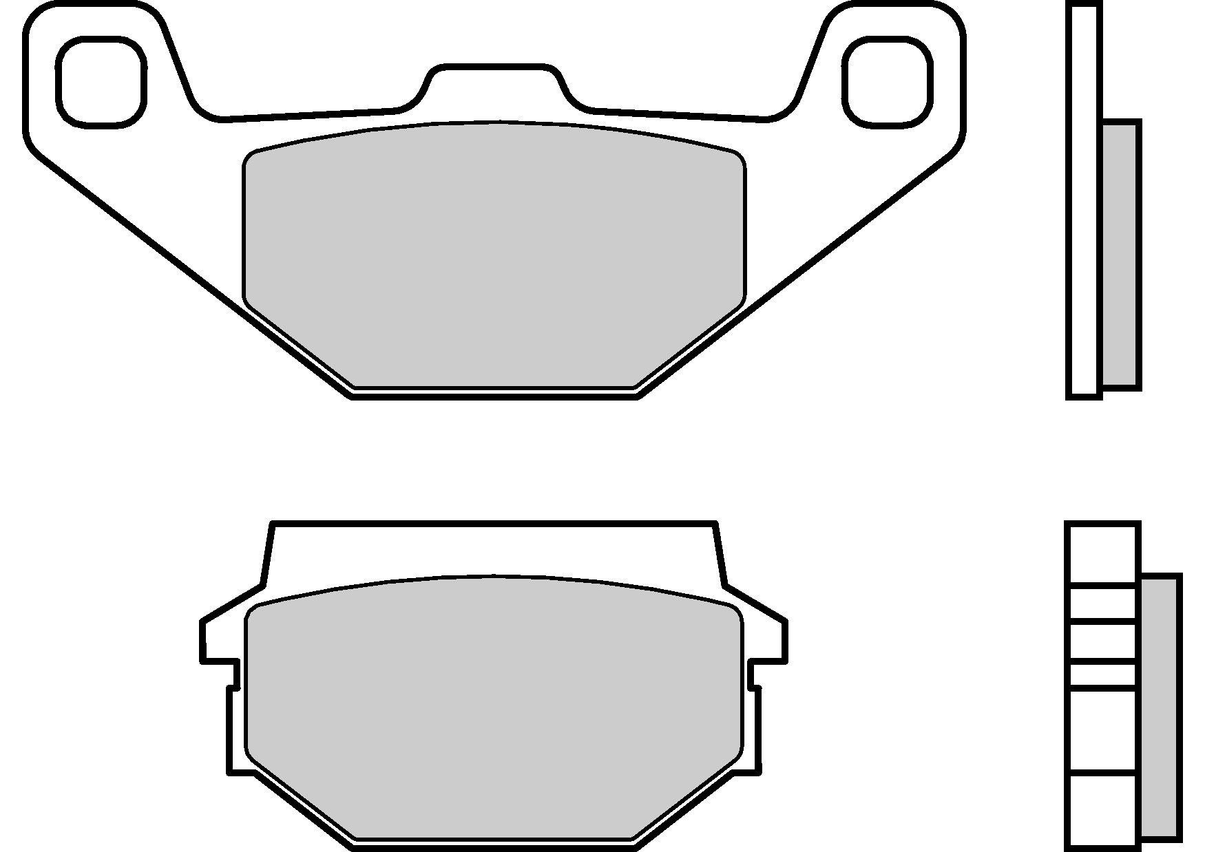 Motocyklové brzdové destičky BREMBO 07023 OE organické (přední+zadní)