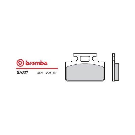Motocyklové brzdové destičky BREMBO 07031 OE organické (přední+zadní)