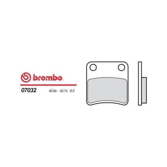 Motocyklové brzdové destičky BREMBO 07032 OE organické (přední+zadní)