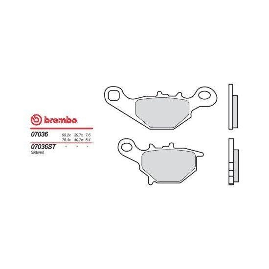 Motocyklové brzdové destičky BREMBO 07036 OE organické (přední+zadní)