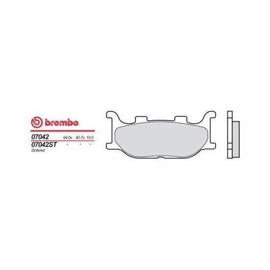 Motocyklové brzdové destičky BREMBO 07042 OE organické (přední+zadní)