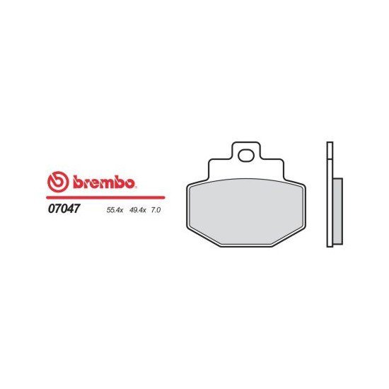 Motocyklové brzdové destičky BREMBO 07047 OE organické (přední+zadní)