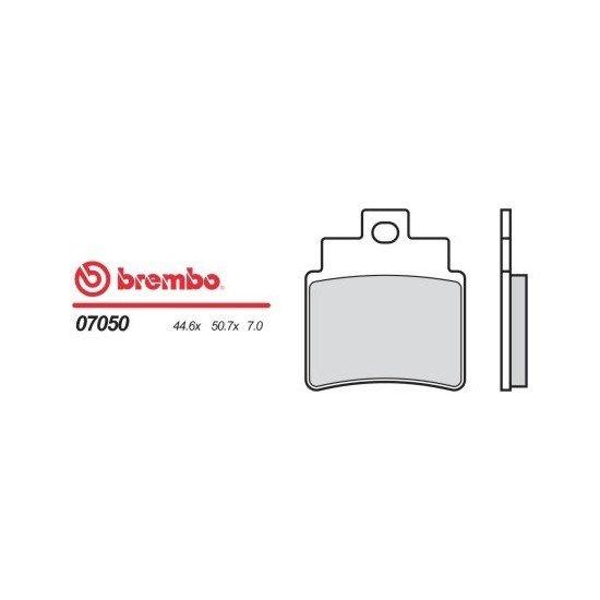 Motocyklové brzdové destičky BREMBO 07050 OE organické (přední+zadní)