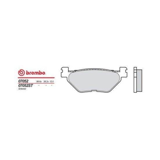 Motocyklové brzdové destičky BREMBO 07052 OE organické (přední+zadní)
