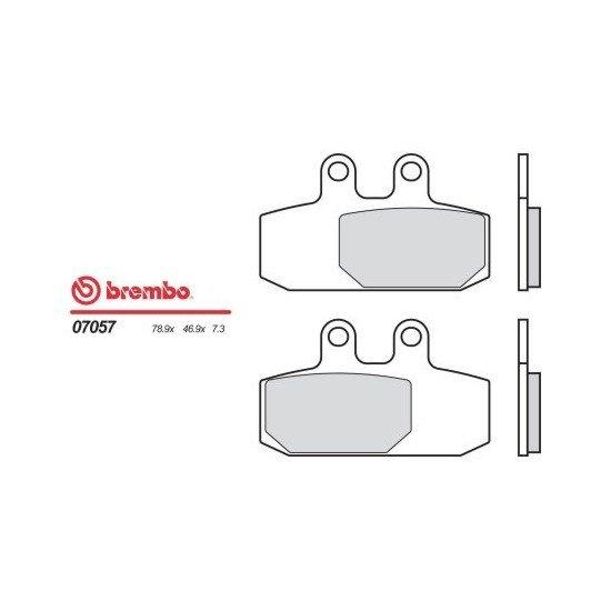 Motocyklové brzdové destičky BREMBO 07057 OE organické (přední+zadní)