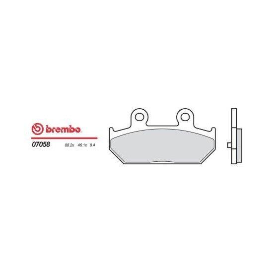 Motocyklové brzdové destičky BREMBO 07058 OE organické (přední+zadní)