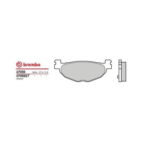 Motocyklové brzdové destičky BREMBO 07059 OE organické (přední+zadní)