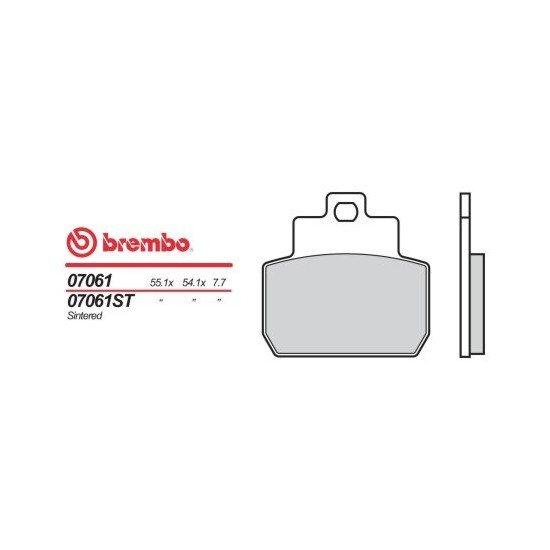 Motocyklové brzdové destičky BREMBO 07061 OE organické (přední+zadní)
