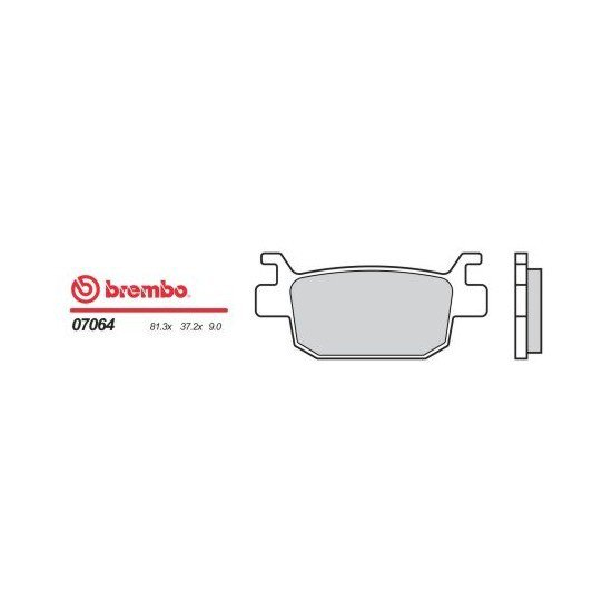 Motocyklové brzdové destičky BREMBO 07064 OE organické (přední+zadní)