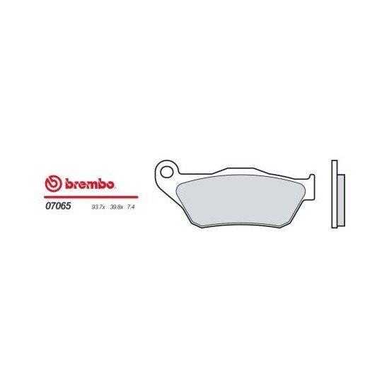 Motocyklové brzdové destičky BREMBO 07065 OE organické (přední+zadní)
