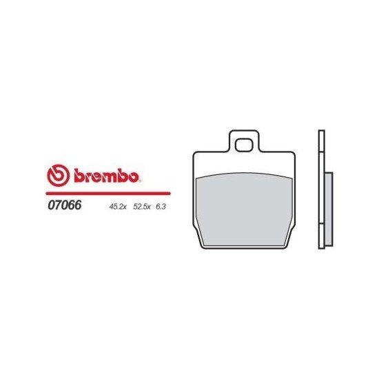 Motocyklové brzdové destičky BREMBO 07066 OE organické (přední+zadní)