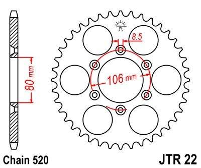 JT Sprockets Rozeta JTR 22.45
