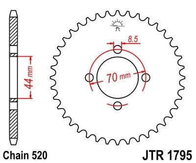 JT Sprockets Rozeta JTR 1795.22