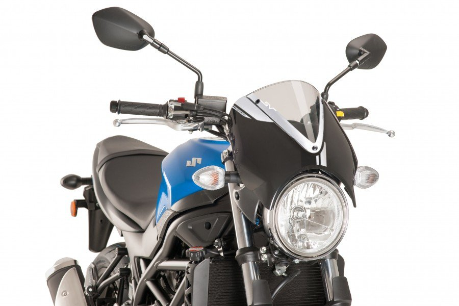 Puig 8926 Retro Windshield (Black Fairing) Suzuki SV 650 (16-17) Čirá (W)
