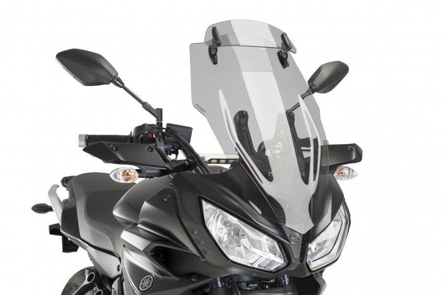 Puig 9213 Regulovatelný větrný štít TOURING Yamaha MT-07 Tracer (16-17) Kouřová (H)