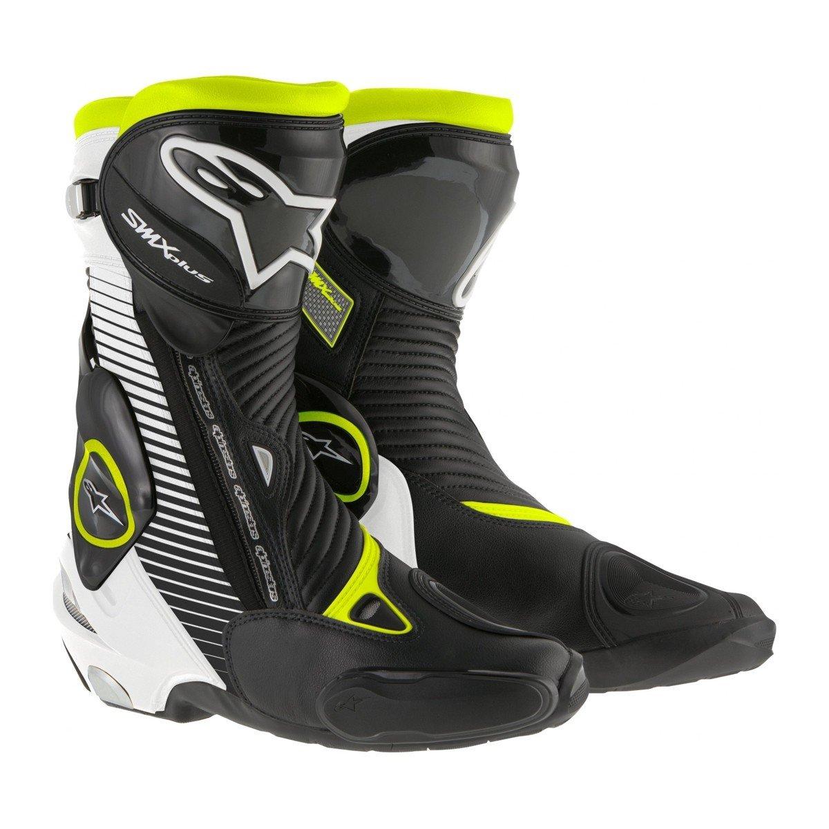 Alpinestars S-MX PLUS Black/White/Fluo Yellow 36