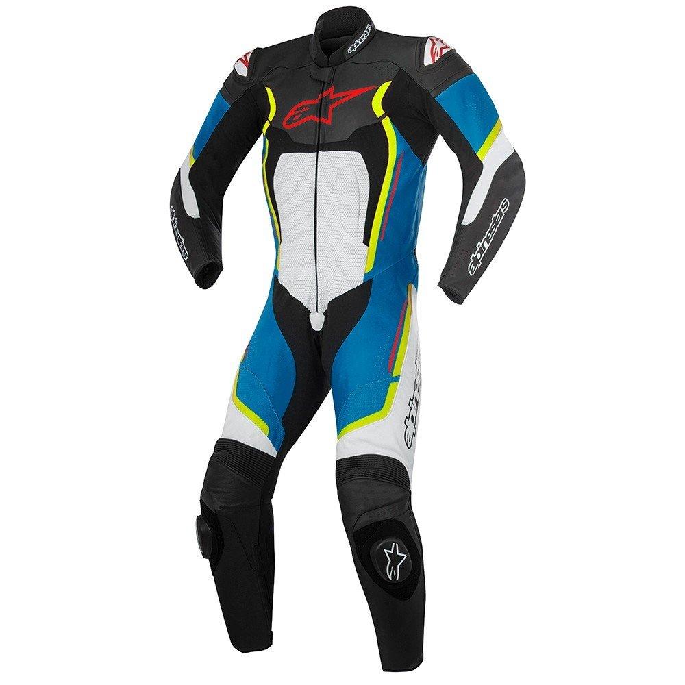 Alpinestars Motegi V2 1PC Suit Black/White/Blue/Yellow Fluo 48