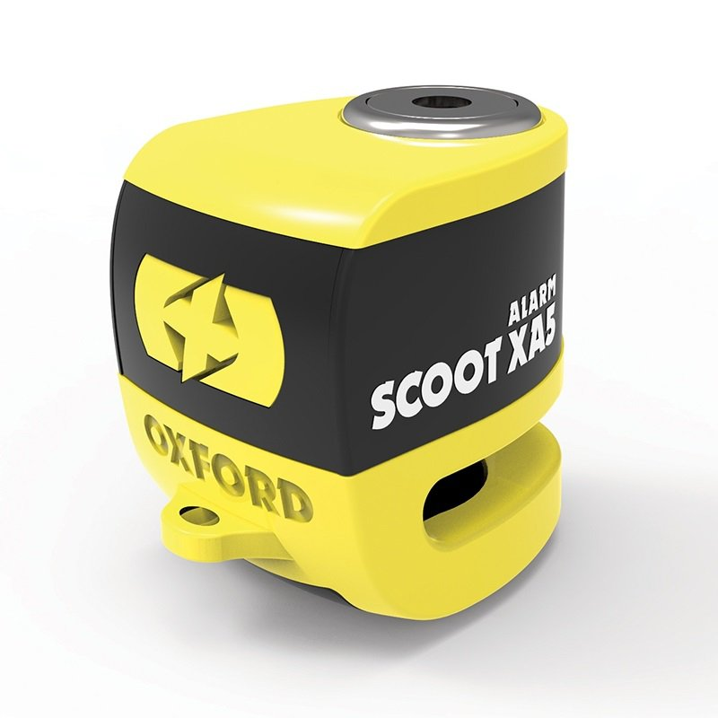 Oxford Scoot XA5 Alarm Disc Lock yellow/black (čep 5.5mm)
