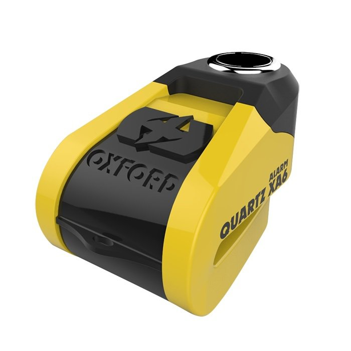 Oxford Quartz XA6 Alarm Disc Lock yellow/black (čep 6mm)