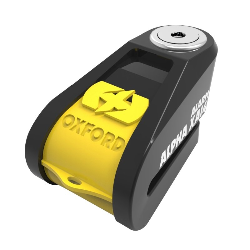 Oxford Alpha XA14 Alarm Disc Lock black/yellow (čep 14mm)