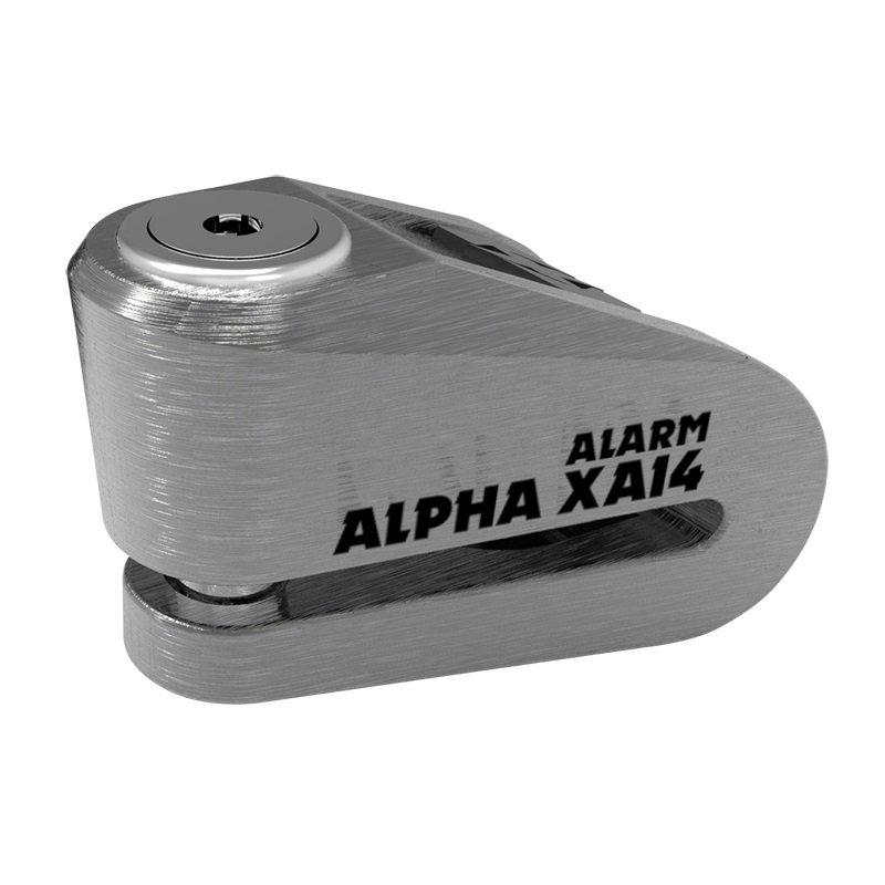Oxford Alpha XA14 Alarm Disc Lock stainless steel (čep 14mm)