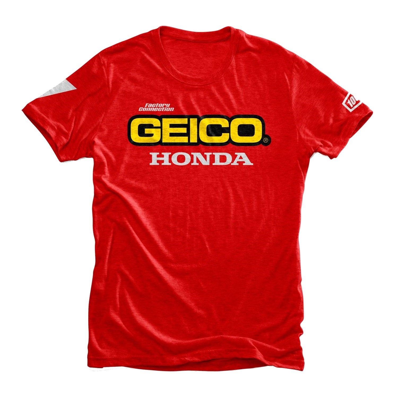 100% Pánské triko Standard Geico/Honda red M