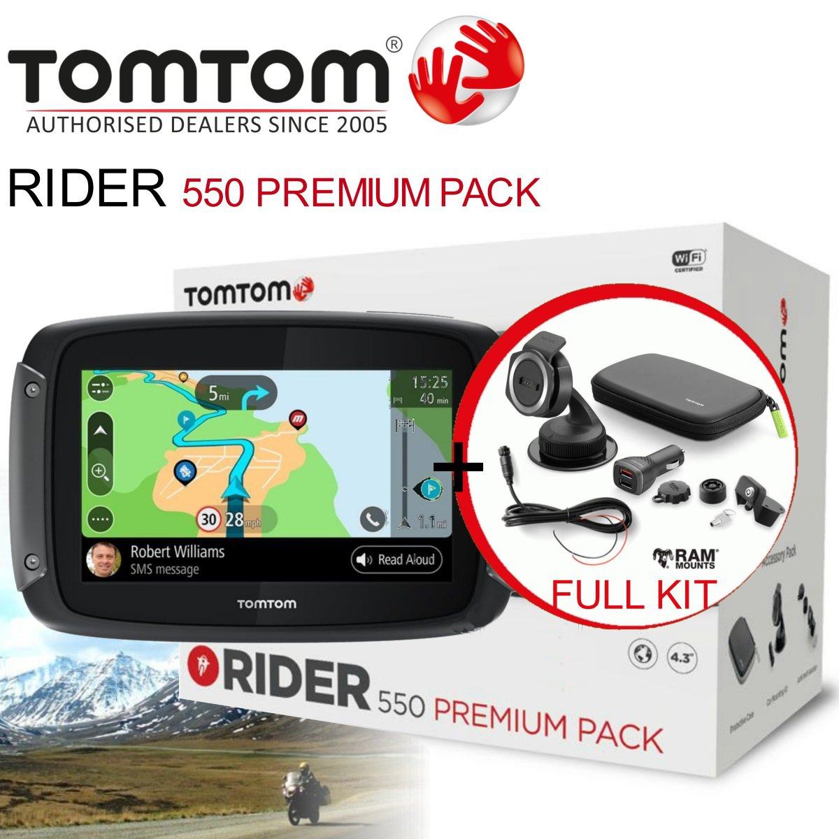 tomtom gps navigace rider 550 premium pack. Black Bedroom Furniture Sets. Home Design Ideas