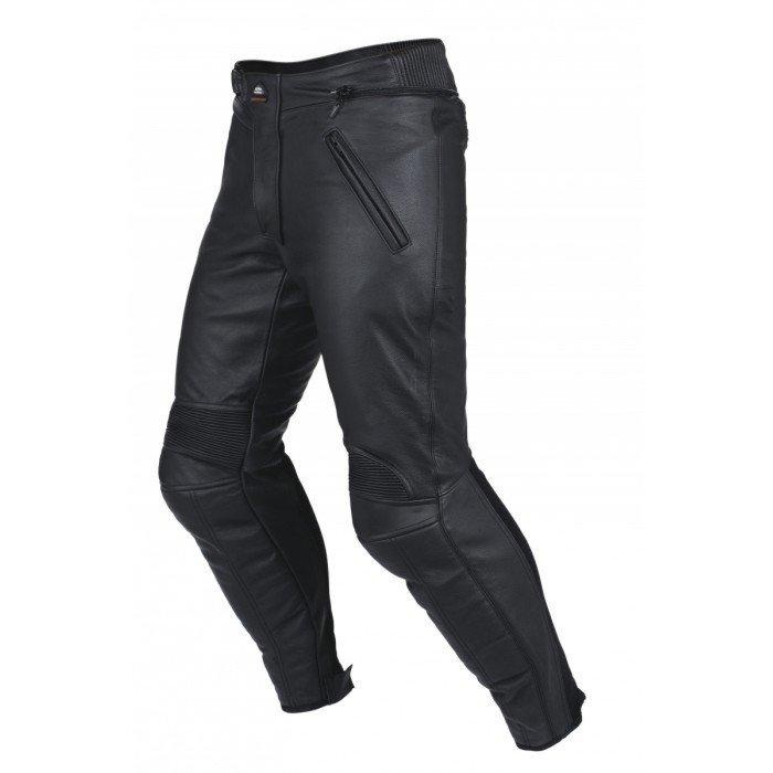 Pánské kožené kalhoty na motocykl CLOVER Eurotour (černé) 56