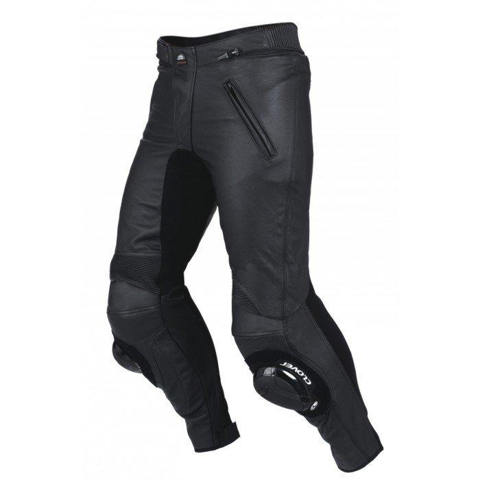 Pánské kožené kalhoty na motocykl CLOVER GTS (černé) 56