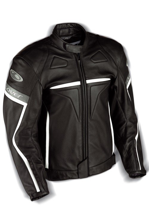 Pánská kožená bunda CLOVER Douglas (černá) 52